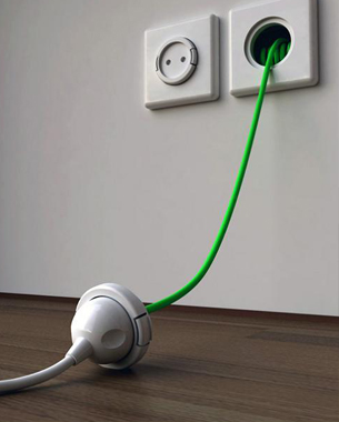 extension cord built in to the wall.. these types of glorious inventions make me