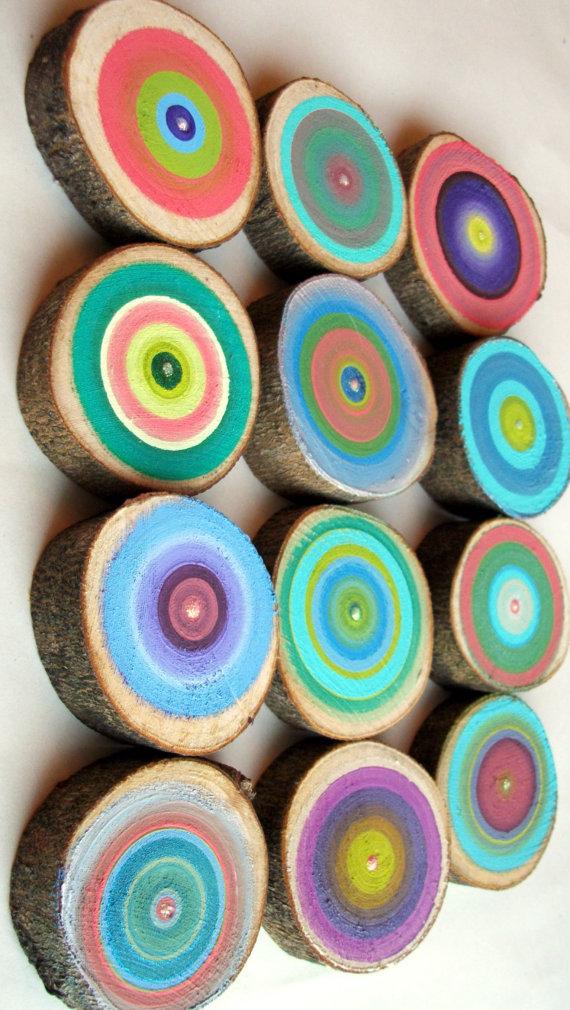 DIY   Hand painted tree rings