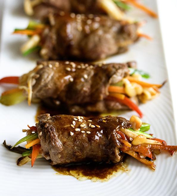 Pan Seared Steak Rolls