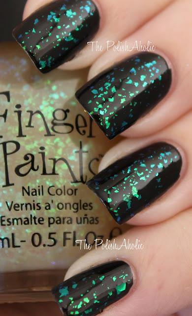"""fingerpaints """"flecked"""" – blue/green flakie top coat"""