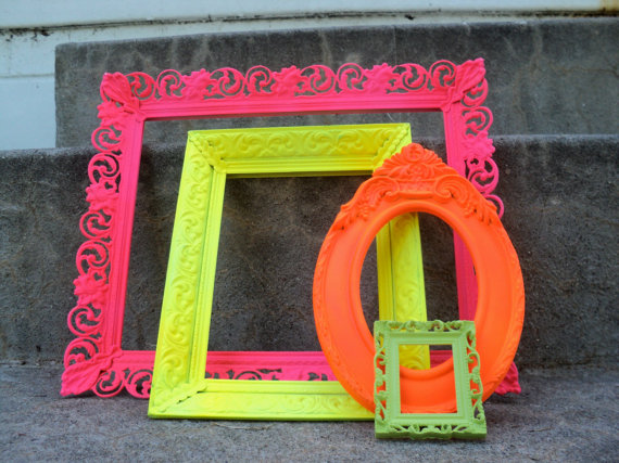 Neon Picture Frames
