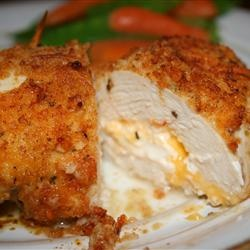 Garlic-Lemon Double Stuffed Chicken–Stuffed with cheddar and cream cheese…OH