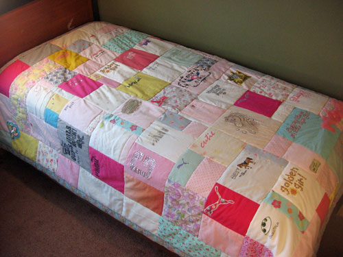 Quilts made of old baby clothes that way you can keep them ...