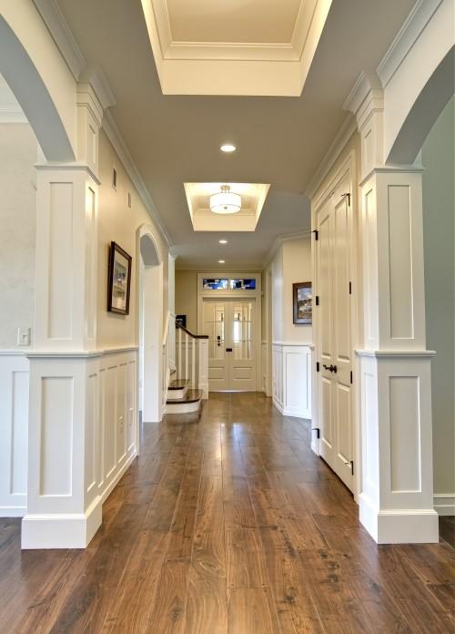 wood floors… Grey ceilings!