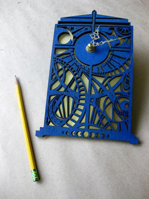 TARDIS clock #doctorwho – I need this!!!
