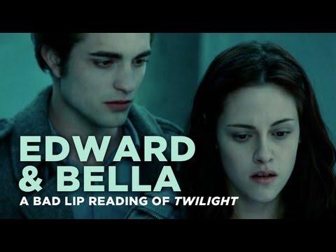 """Edward and Bella"" — A Bad Lip Reading of Twilight hahahahahahah"