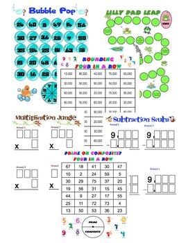 Make math fun again with these super fun, Common Core aligned games! $