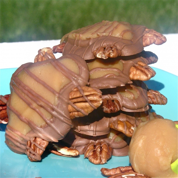 Turtles – these would be great for Christmas (either to serve or give as gifts)