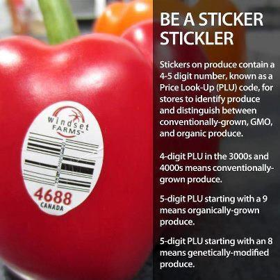 Good to know about veggie/ fruit labels
