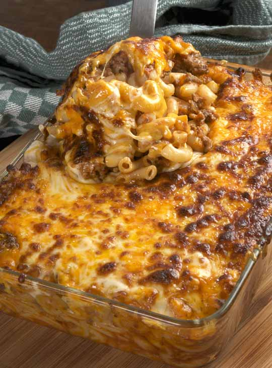 Cheesy Hamburger Casserole … Not going to ever use the boxed stuff again! Perf