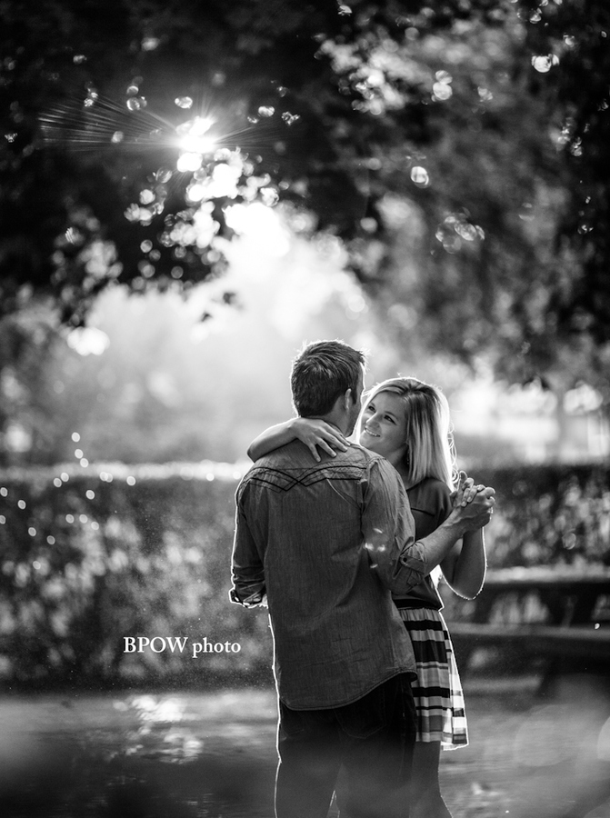 dancing for engagement photos..I love how romantic it looks