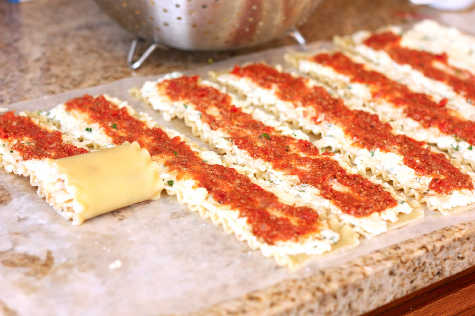 Lasagna Roll Ups.. can be made in single servings and frozen! Definitely making
