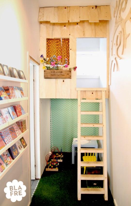 indoor treehouse- fun!