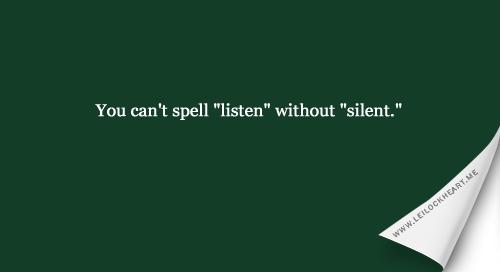 Listen Listen Listen!!