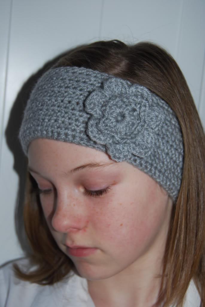 crochet headband-crochet flowers