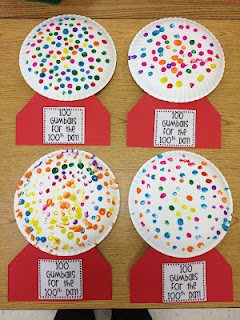 Gumball craft – 100th day of school