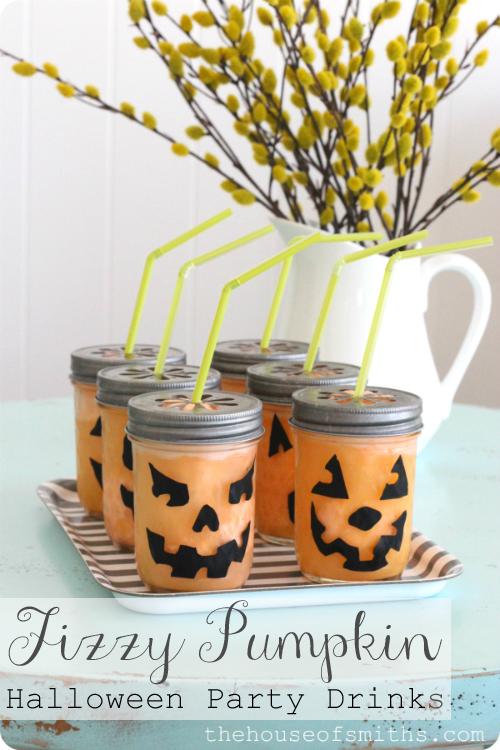 Halloween Drinks in Jars