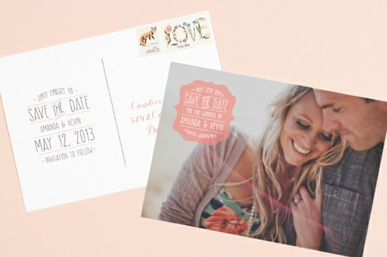 Save the Date postcard… Cheaper postage and unique