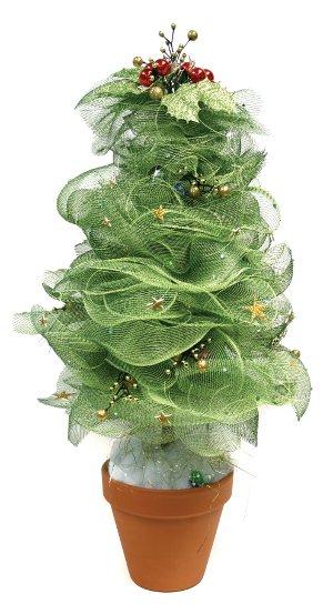 DIY Geo Mesh Christmas Tree