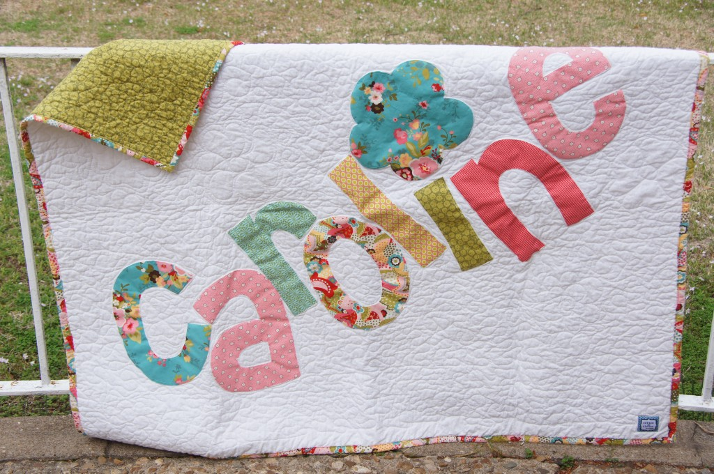 Personalized name quilts…love this.