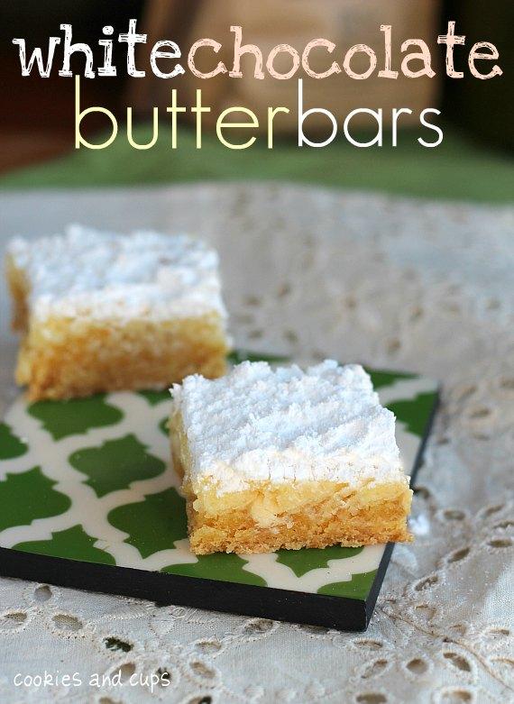 white chocolate butterbars