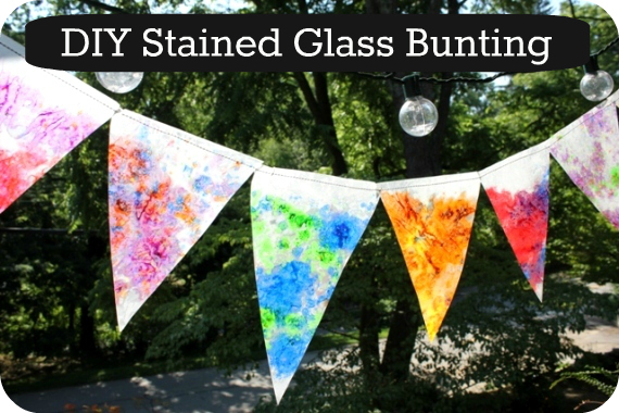 (Beautiful!) Stained Glass Bunting – The Artful Parent
