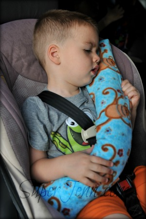 Make these super cute, super easy Seatbelt Pillows before your summer road trip.