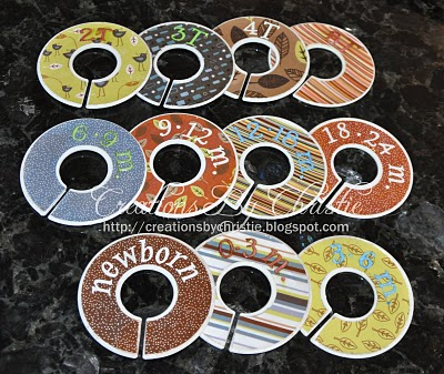 Closet dividers – Old CDs or DVDs with a bit cut out. Cute baby Gift