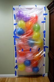 birthday morning balloon surprise
