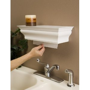 DIY: Paper towel holder inside a shelf!!