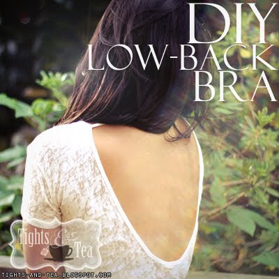turn your favorite bra into a low-back bra (SUPER easy!)