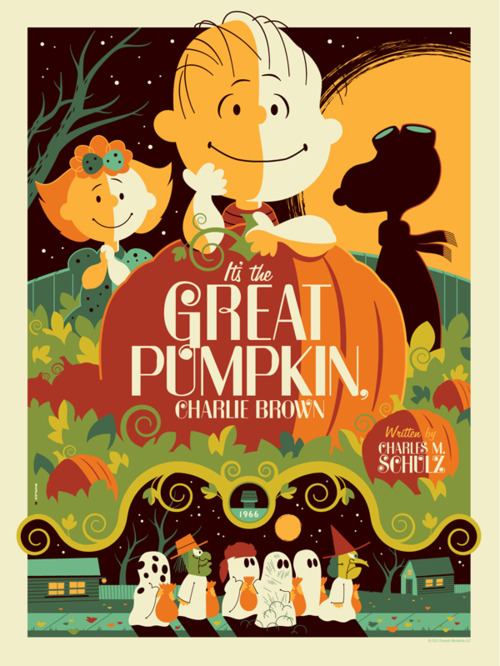 It's the Great Pumpkin, Charlie Brown poster by Tom Whalen