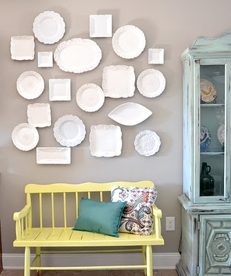 Hang white plates in kitchen?