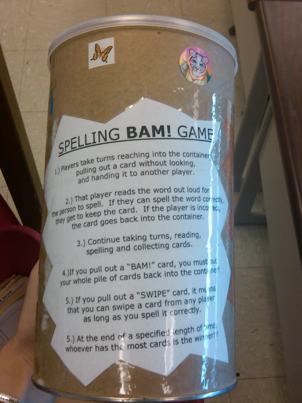 Spelling/Vocabulary/Prefixes Game Idea