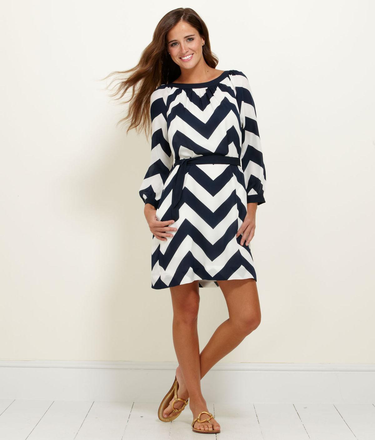 love this.  Vineyard Vines Chevron 3/4-Sleeve Dress