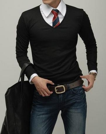 Black jumper & tie