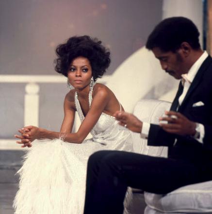 Diana Ross and Sammie Davis, Jr.