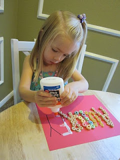 Name Craft – Great for fine motor skills!