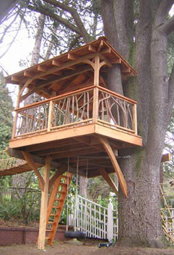 TreeHouse Workshop – View kids treehouses and tree forts, including play equipme
