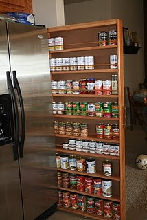 DIY pantry shelf