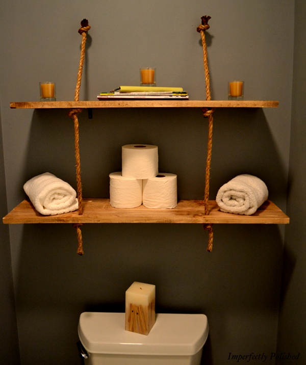 DIY: Rustic Rope Shelves