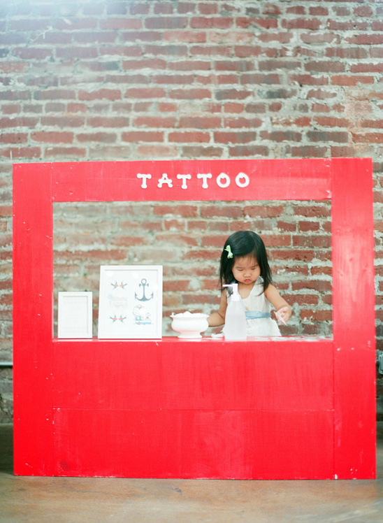 This is SO much better than a lemonade stand. (Temporary) tattoo parlor.