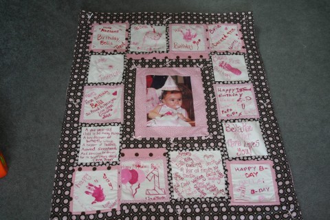 first birthday party quilt