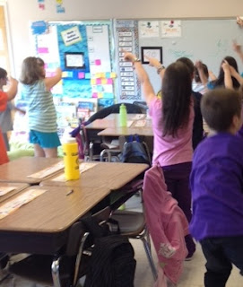 Dance moves to teach subtraction with regrouping –