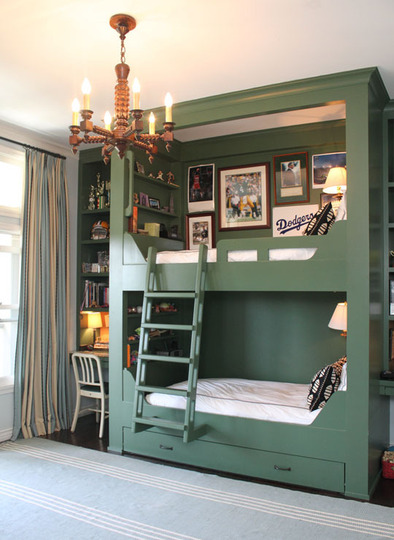 Love these bunk beds. The girls will be sharing for a while!