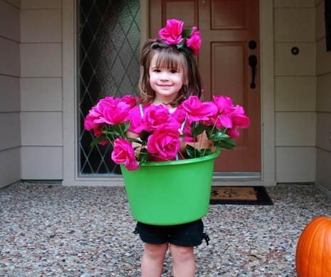 flowerpot girl costume