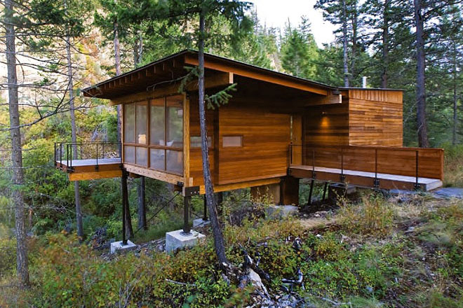 Weekend Cabin: Flathead Lake, Montana. I want to build a getaway for our family