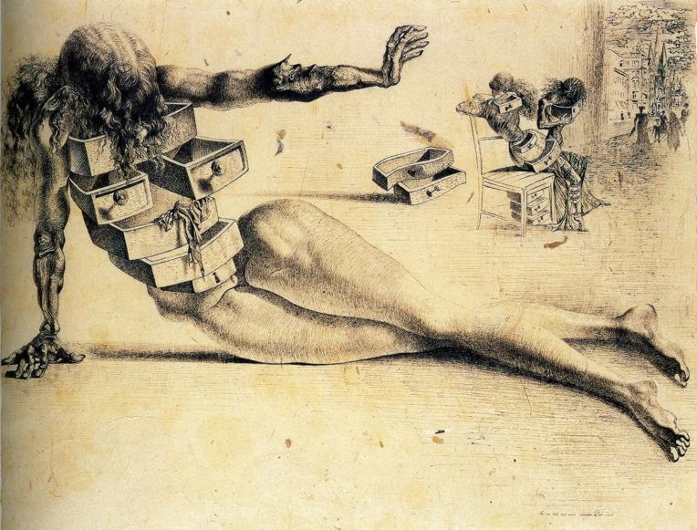 Salvador Dali – City of drawers, 1936