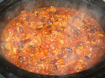 Buffalo Chicken Chili in the Slow Cooker