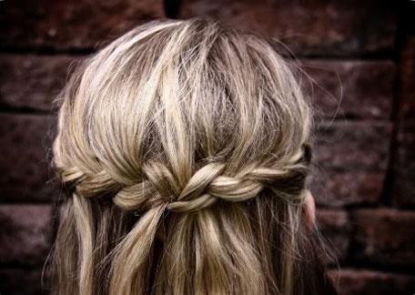 braided crown  hair